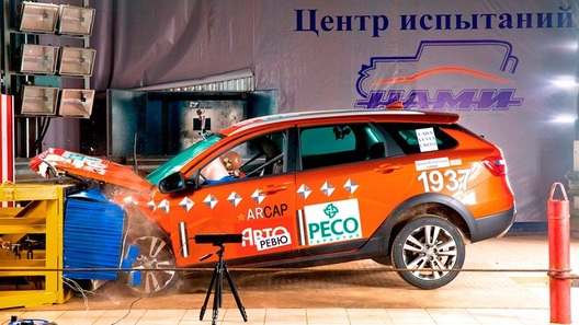 Кросс-универсал Lada Vesta разочаровал результатами краш-теста