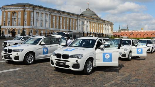 Российским олимпийцам подарили внедорожники BMW