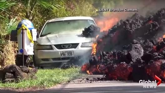 Владелец сгоревшего в лаве спорткара расстроился из-за урны