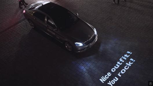 Mercedes-Benz научил фары разговаривать
