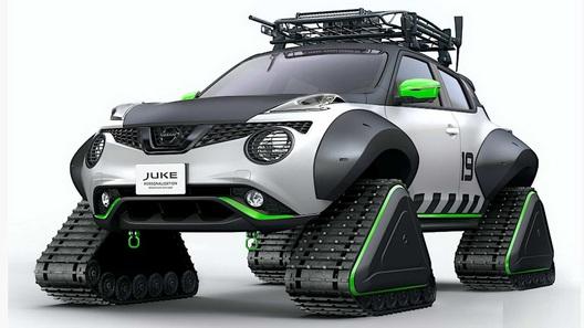 Nissan выпустил экстремальный Juke на гусеницах