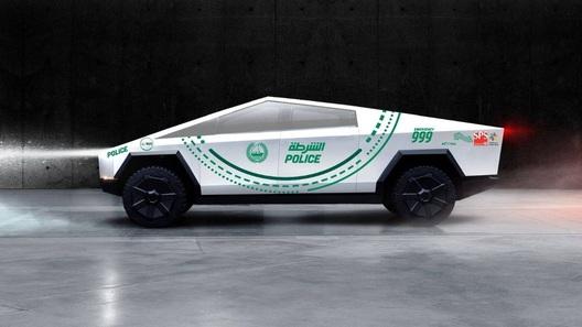Монструозный пикап Tesla Cybertruck отправится служить в полицию Дубая