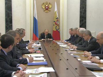 Путин обсудил с Совбезом происходящее в России и мире