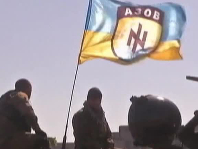 """Члены батальона """"Азов"""" атаковали российский банк в Одессе"""