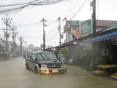 Тропический ливень подтопил Бангкок