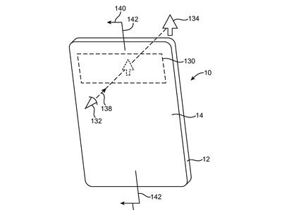 Apple запатентовала прозрачный безрамочный смартфон