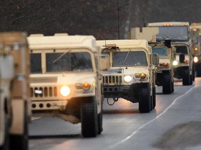 Американская и британская военная техника въехала в Польшу