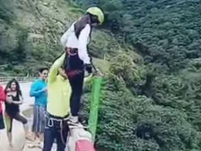 Опасное развлечение: прыжок с моста в Боливии закончился трагедией