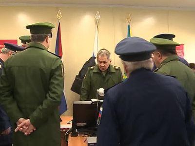 Шойгу проинспектировал зенитную ракетную бригаду в Красноярском крае