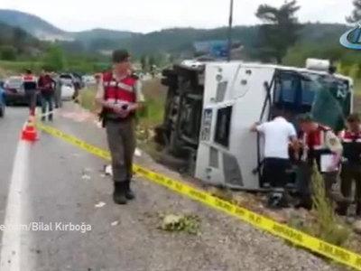 В перевернувшемся в Турции автобусе были российские туристы