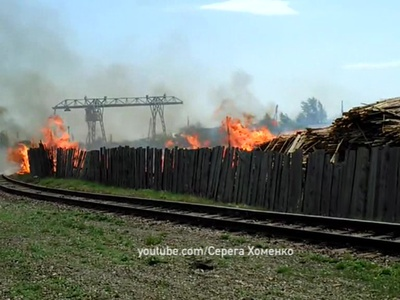 МЧС: пожары в Канске и Лесосибирске локализованы