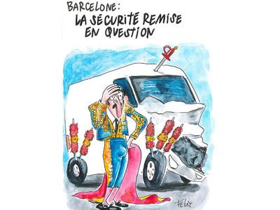 Charlie Hebdo опубликовал карикатуру на теракт в Барселоне