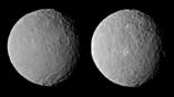 Изображения карликовой планеты Цереры с повышенной резкостью, принятые 19 февраля 2015 года. Зонд Dawn наблюдал за полным оборотом Цереры, который длился около 9 часов, с расстояния в 46 тысяч километров