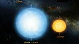 Изученная звезда в два раза больше нашего Солнца.