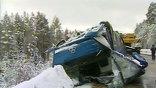 В Красноярске расследуют обстоятельства ДТП с участием пассажирского автобуса. Он вез из Енисейска 49 человек