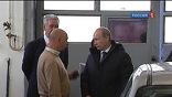 Владимир Путин посетил один из московских пунктов техосмотра