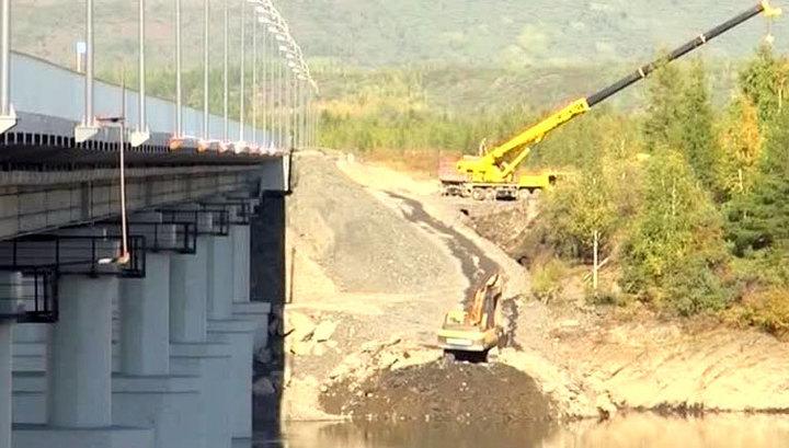 В Магаданской области сдан новый современный мост через Колыму