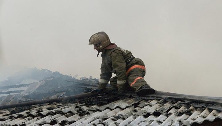 В Ростове вспыхнул пожар в жилом доме