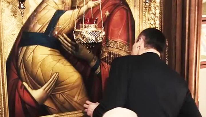 Кличко боднул икону Божьей Матери