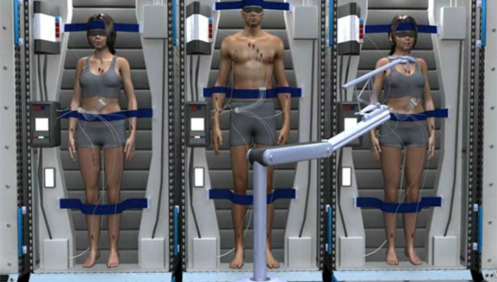 В ходе межпланетного транзита члены экипажа будут получать низкоуровневые электрические импульсы на ключевые группы мышц для предотвращения мышечной атрофии