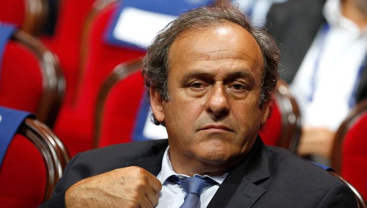 Платини удивлен отстранением от выборов президента ФИФА
