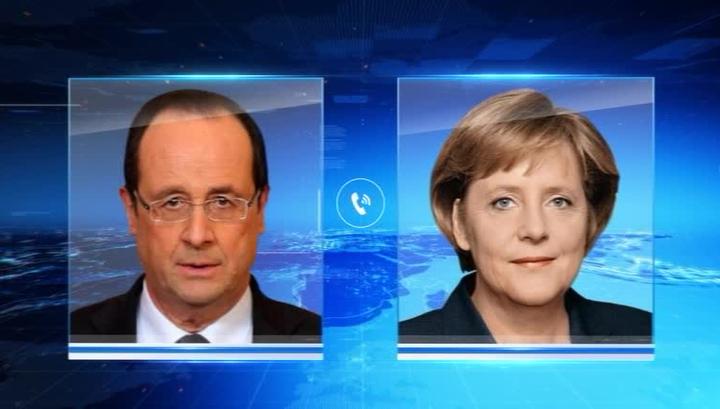 Олланд рассказал Меркель о встрече с Путиным