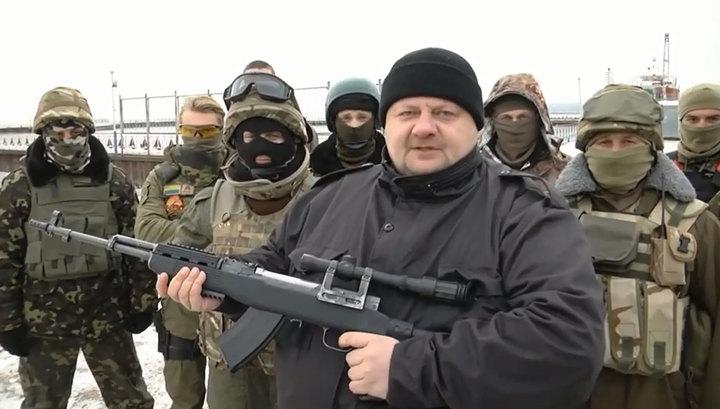Украинский радикал Мосийчук оскорбил Рамзана Кадырова и расстрелял его фото
