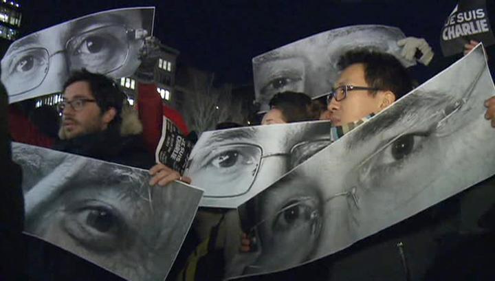 По всему миру прошли митинги в память о погибших в Париже журналистах