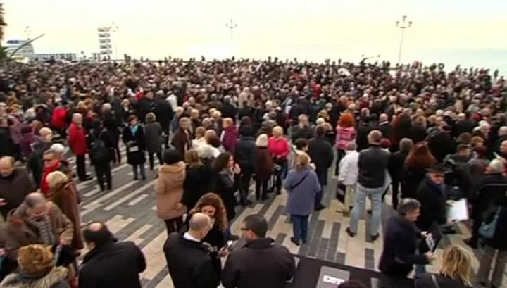 На митинги во Франции вышли более 700 тысяч человек