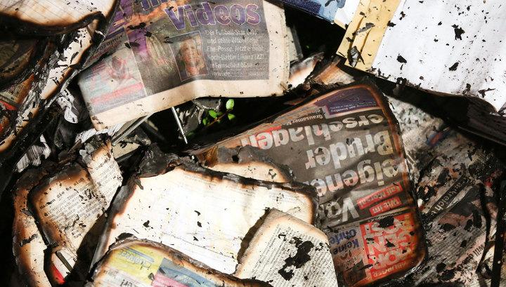 """В Германии подожгли газету, перепечатавшую карикатуры """"Шарли Эбдо"""""""