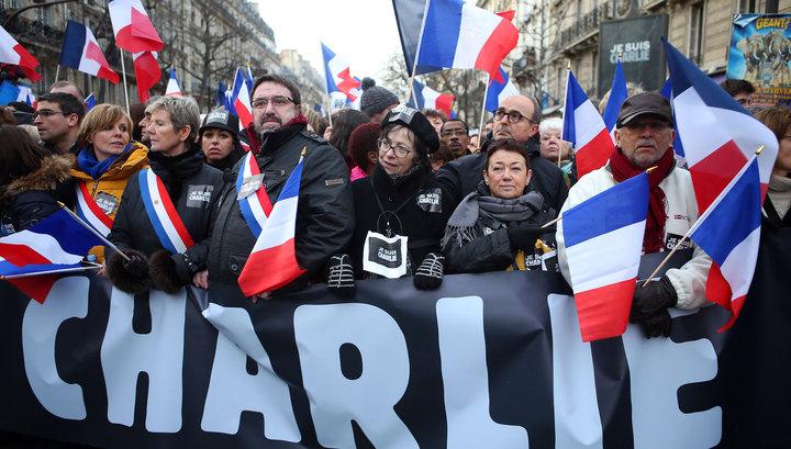 Марш солидарности: на улицы Парижа вышли 1,5 миллиона человек