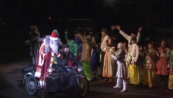 """""""Ночные волки"""" подарили юным россиянам новогоднюю сказку с политическим подтекстом"""