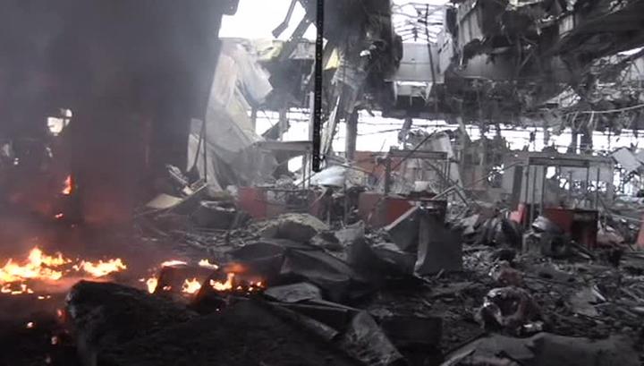 "Силовики с танками и ""Градами"" пошли на аэропорт Донецка"