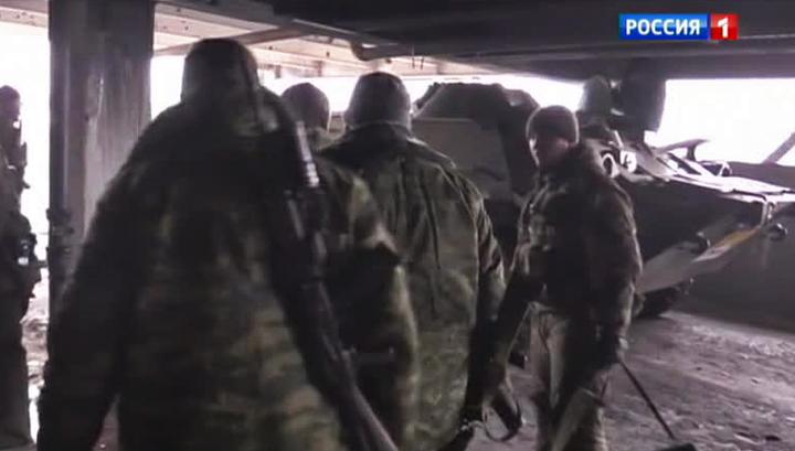 """Это """"Спарта"""": ополченцы зачистили аэропорт Донецка"""