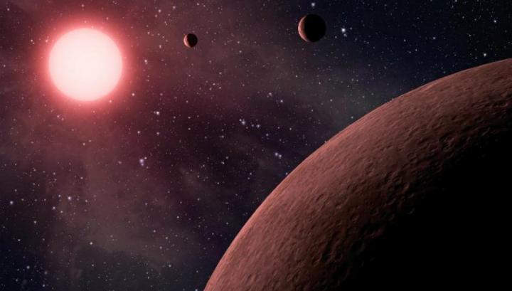 Далёкая планетарная система карликовой звезды Kepler-42 в представлении художника