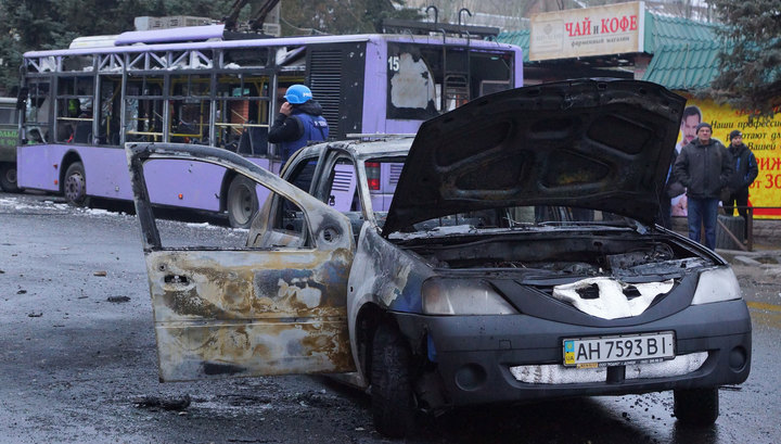 Донецк винит в обстреле остановки украинскую артиллерию