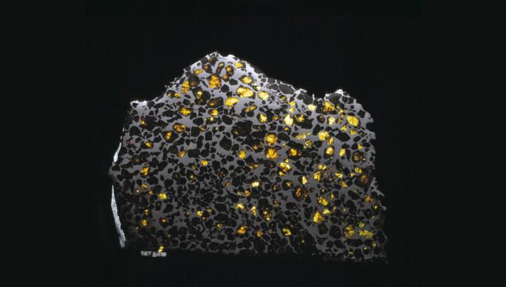 Метеорит Эскуэль, который состоит из кристаллов, заключённых в металл. Магнетизм этого металла был использован для изучения развития планетных тел ранней Солнечной системы 4,5 миллиарда лет назад