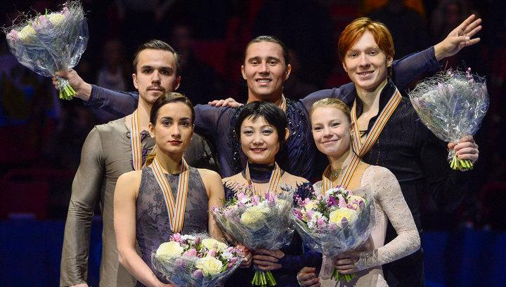 Российские фигуристы второй день занимают весь пьедестал на чемпионате Европы