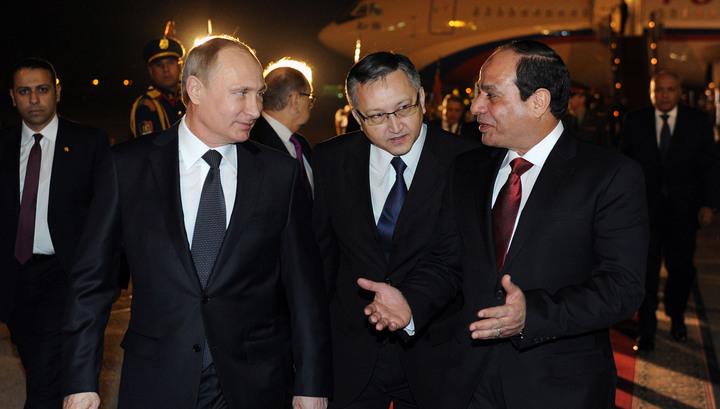 В Каире началась встреча Путина и Сиси