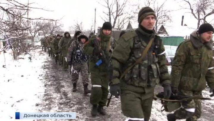 Украинские силовики в Дебальцево пытаются прорвать позиции ополченцев