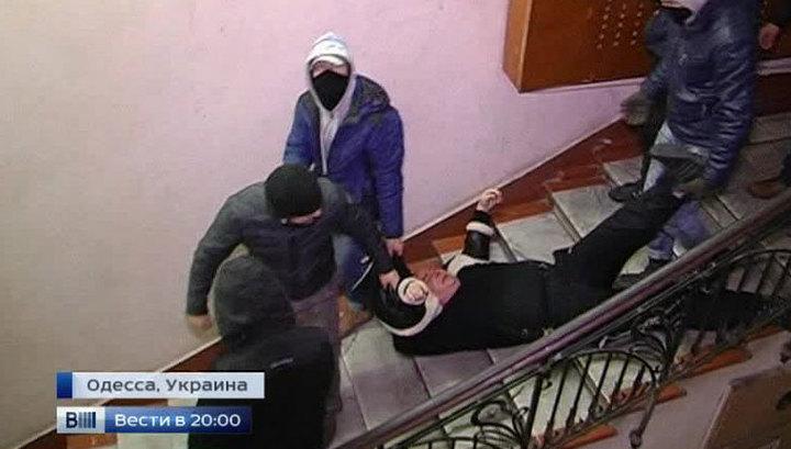 "Расправа над журналистами: сторонники Майдана кулаками навели ""демократический порядок"""