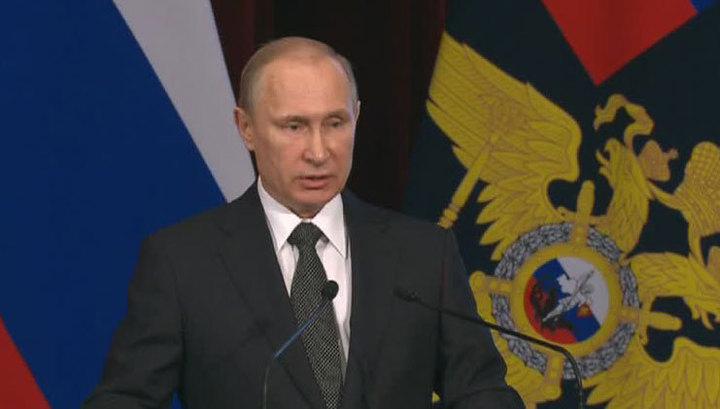 Путин на коллегии МВД: надо избавить Россию от трагедий, наподобие убийства Немцова