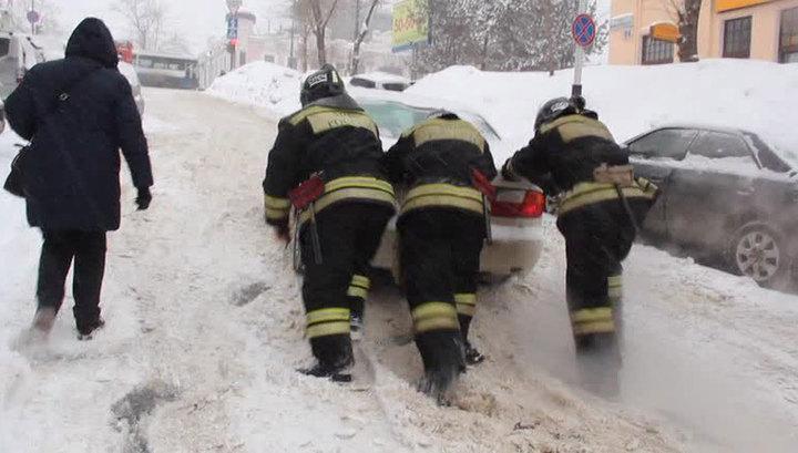 В Хабаровском крае из-за метели остановились автобусы