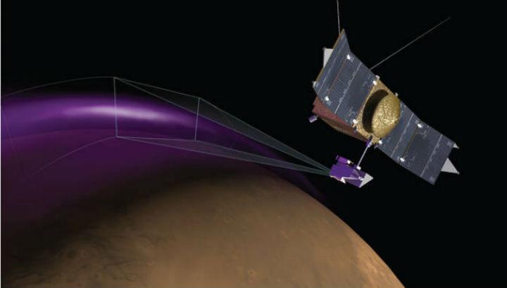 Полярное сияние на Марсе в представлении художника