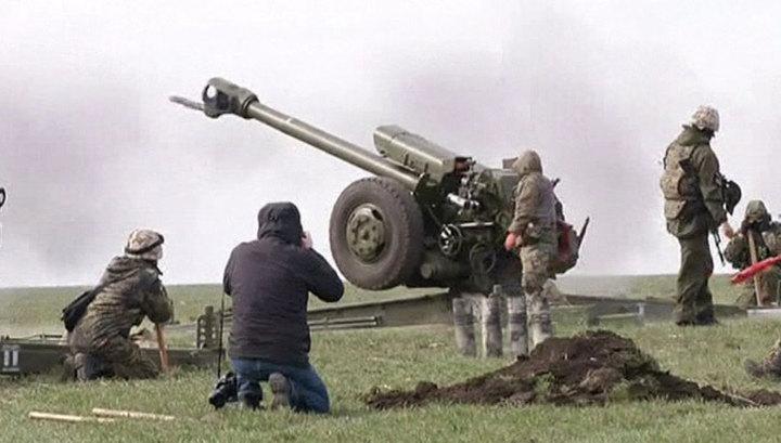 Киев провел учения вблизи границы с Крымом
