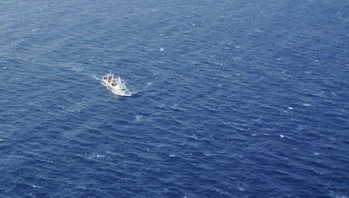 К северу от Японии столкнулись два судна