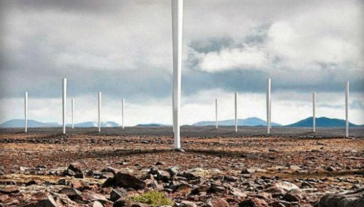 Новые ветряные турбины похожи на обычные белые столбы