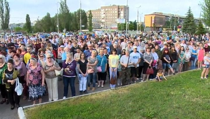 Комбрига Мозгового похоронили в Алчевске