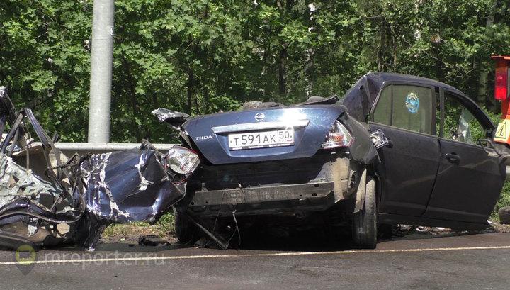 Два человека погибли в ДТП на Щелковском шоссе. Видео очевидца
