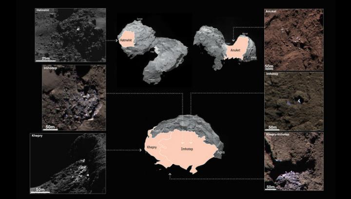 """""""Оголённый"""" лёд на комете 67P"""